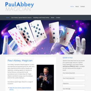 Paul Abbey, Magician